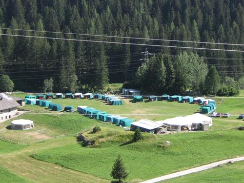 Turno associazioni: vista aerea del campeggio