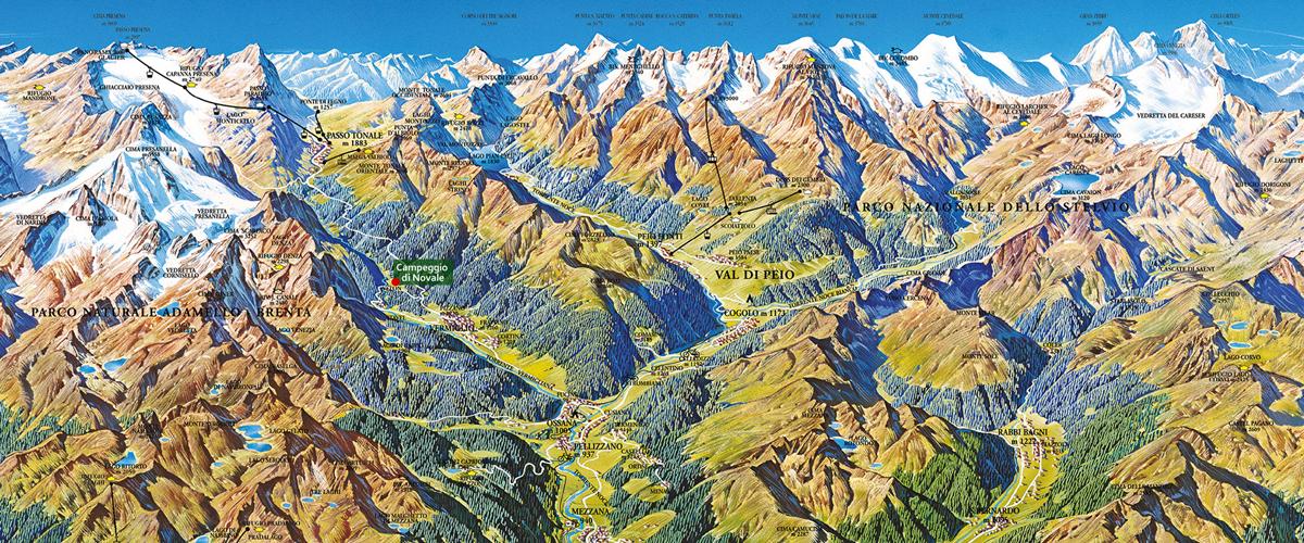 Mappa Campeggio di Novale - Val di Sole, Tonale, Adamello,Stelvio